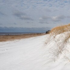 Snow on the beach 12