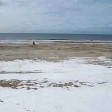 Snow on the beach 14