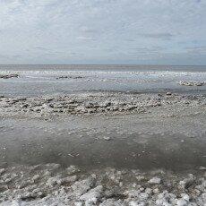 Snow on the beach 15