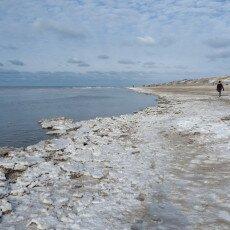 Snow on the beach 16