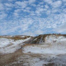 Snow on the beach 18