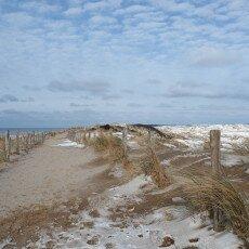 Snow on the beach 19