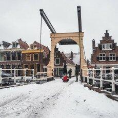 Snow storm in Alkmaar 01