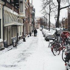 Snow storm in Alkmaar 05