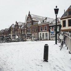Snow storm in Alkmaar 09