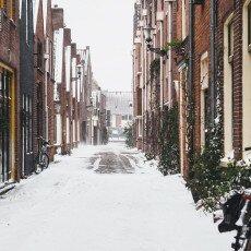 Snow storm in Alkmaar 11