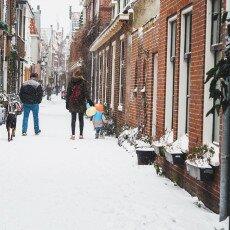 Snow storm in Alkmaar 13
