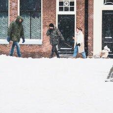 Snow storm in Alkmaar 12