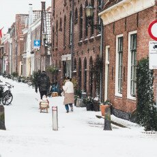 Snow storm in Alkmaar 14