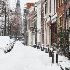 Snow storm in Alkmaar 16