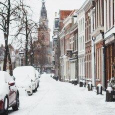 Snow storm in Alkmaar 18