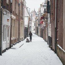 Snow storm in Alkmaar 17