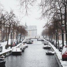 Snow storm in Alkmaar 20