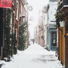 Snow storm in Alkmaar 21