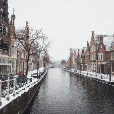 Snow storm in Alkmaar 23