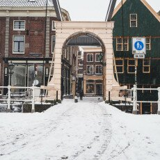 Snow storm in Alkmaar 24