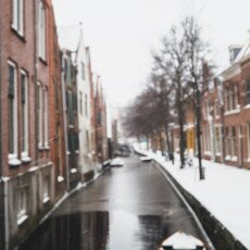 Snow storm in Alkmaar 06