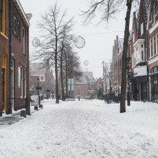 Snow storm in Alkmaar 25