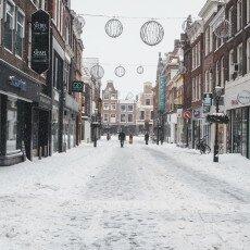 Snow storm in Alkmaar 29
