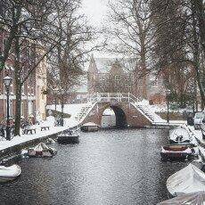Snow storm in Alkmaar 27