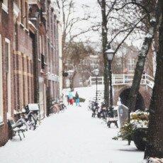 Snow storm in Alkmaar 28