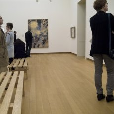 Admiring art at Stedelijk Museum