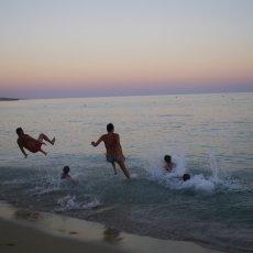Bathing at sunset 01