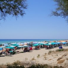 The beach in Torre Vado in the afternoon