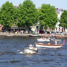A sunny summer day on the Amstel River