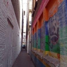 Opposite walls