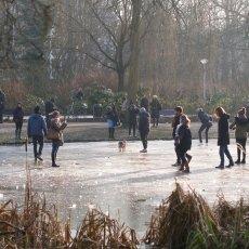 Frozen lakes Vondelpark 02