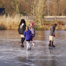 Frozen lakes Vondelpark 16