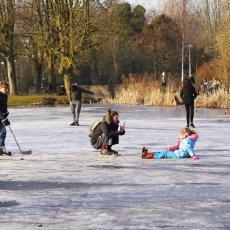 Frozen lakes Vondelpark 20
