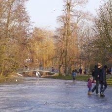 Frozen lakes Vondelpark 21