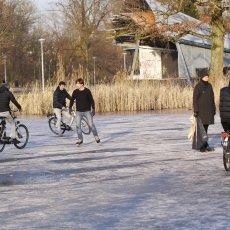 Frozen lakes Vondelpark 22