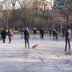 Frozen lakes Vondelpark 23