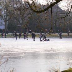 Frozen lakes Vondelpark 26