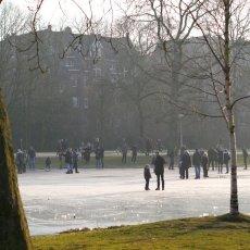 Frozen lakes Vondelpark 27