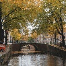 Amsterdam in yellow coat 10
