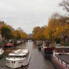 Amsterdam in yellow coat 11