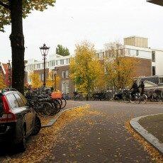 Amsterdam in yellow coat 14