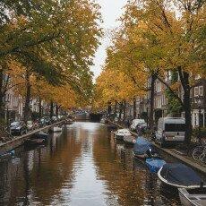 Amsterdam in yellow coat 21