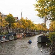 Amsterdam in yellow coat 24