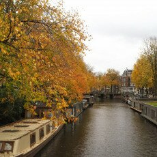 Amsterdam in yellow coat 27