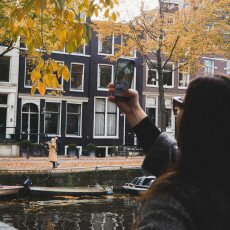 Amsterdam in yellow coat 19