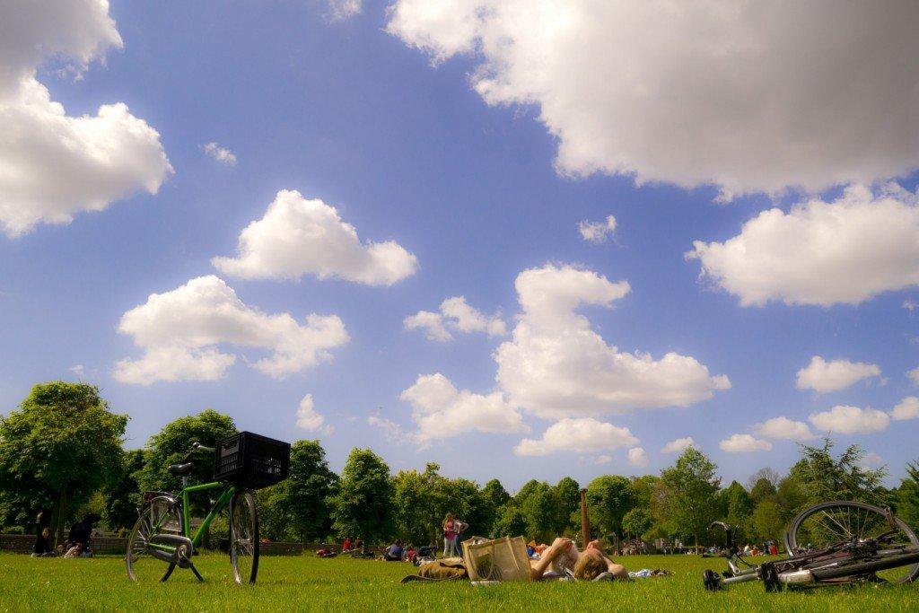 Sunny day in Frankendael Park