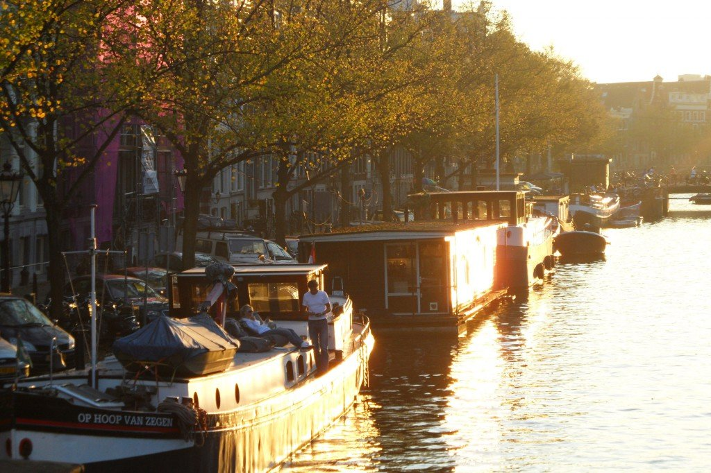 Sunset over the canals
