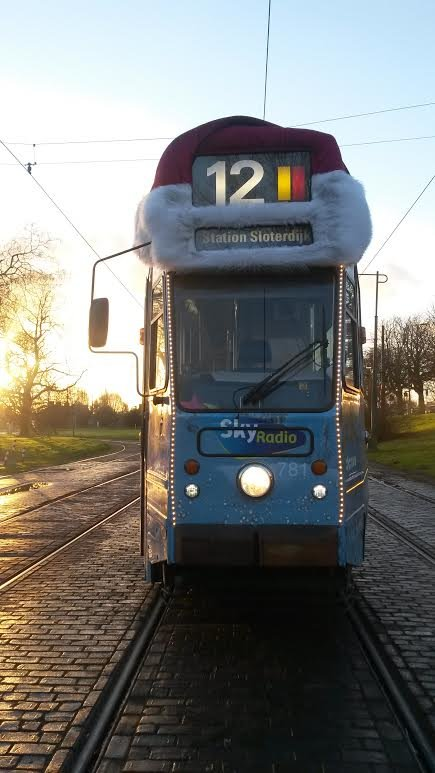 Tram 12 is ready for Christmas