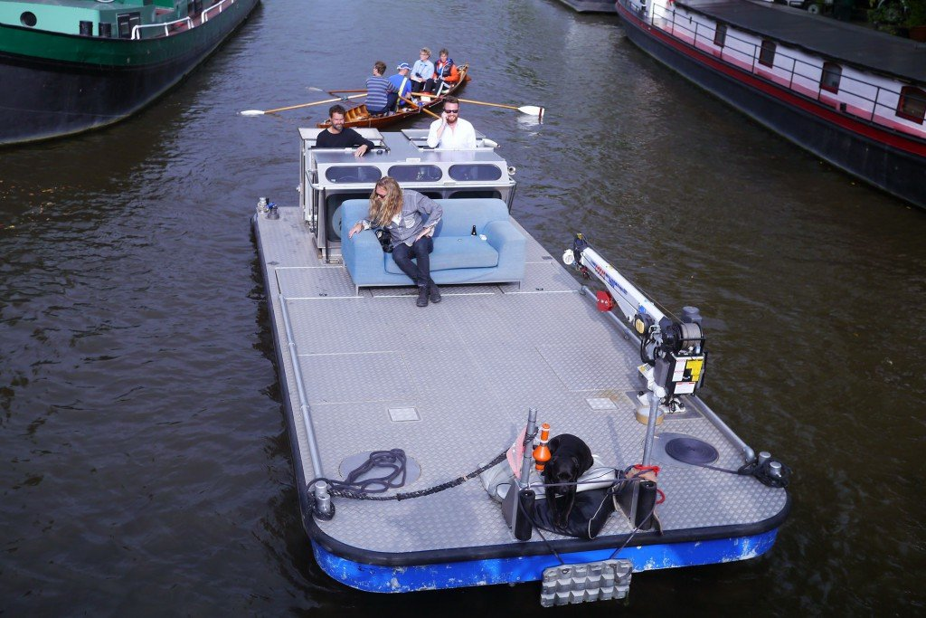 Boat on the canals of Amsterdam