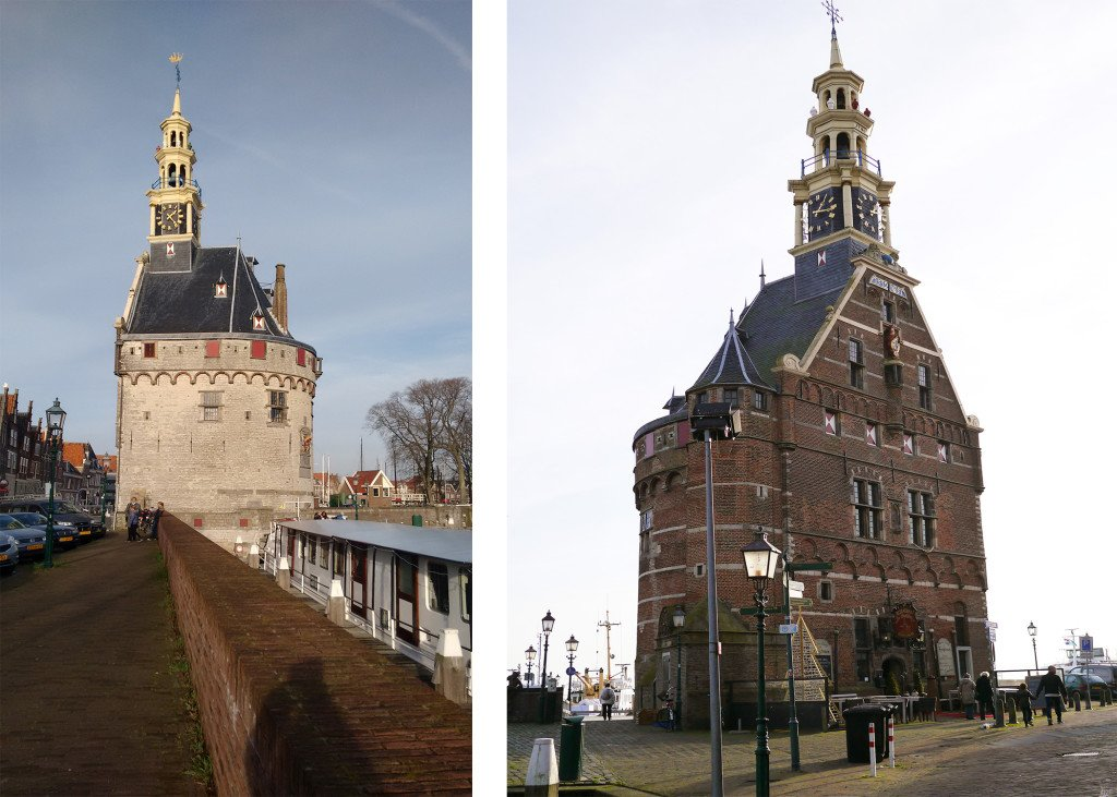 The Hoofdtoren seen from 2 sides